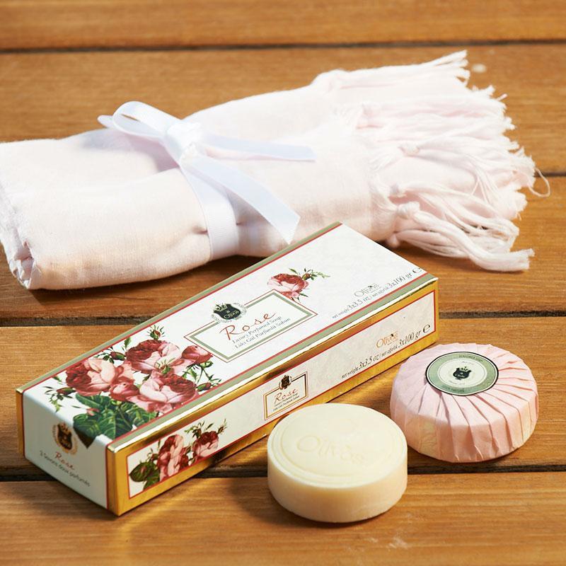 Olivos luxusní parfémovaná mýdla ROSE